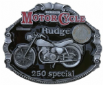 Rudge 250 Special Motorcycle Belt Buckle with display stand. Code FH4